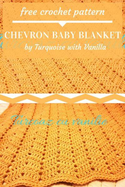 Free Crochet Pattern Chevron Baby Blanket