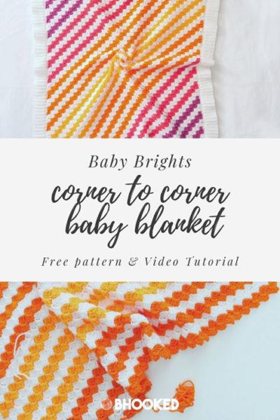 Free Crochet Pattern Corner to Corner Baby Blanket