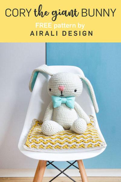 Free Crochet Pattern Cory Giant Bunny