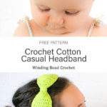 Free Crochet Pattern Cotton Casual Headband