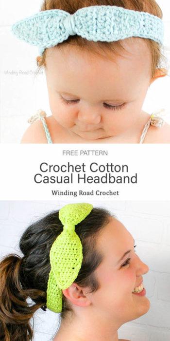 Free Crochet Pattern Cotton Casual Headband
