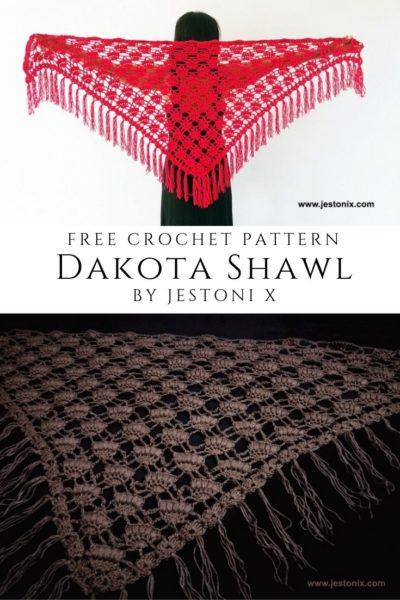 Free Crochet Pattern Dakota Shawl