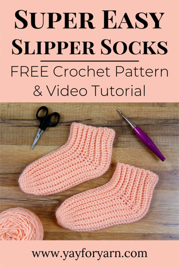 Free Crochet Pattern Easy Slipper Socks