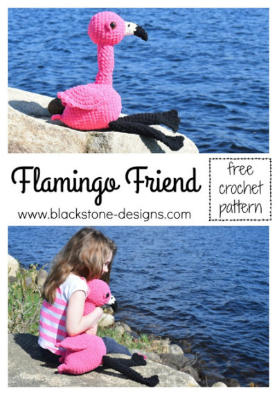 Free Crochet Pattern Flamingo Friend