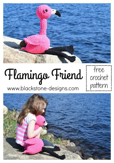 Free Crochet Pattern Flamingo Friend