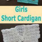 Free Crochet Pattern Girls Short Cardigan