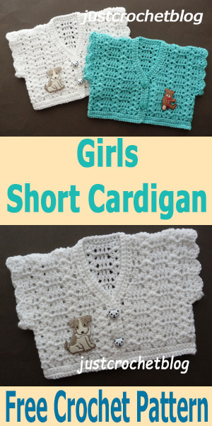 Free Crochet Pattern Girls Short Cardigan