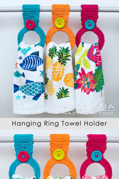 Free Crochet Pattern Hanging Ring Towel Holder