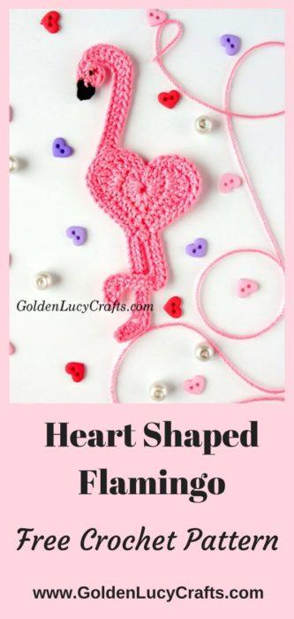 Free Crochet Pattern Heart Shaped Flamingo