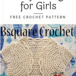 Free Crochet Pattern Lacy Shrug for Girls