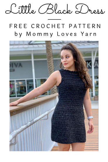 Free Crochet Pattern Little Black Dress