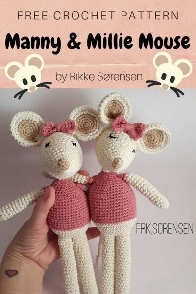 Free Crochet Pattern Manny Millie Mouse