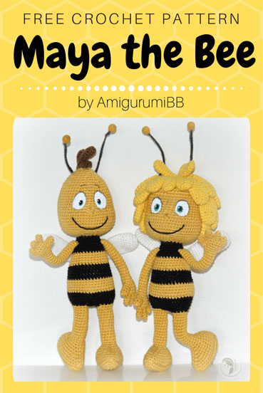 Free Crochet Pattern Maya the Bee