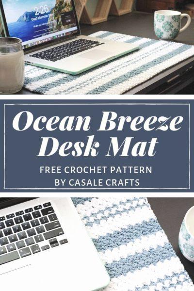 Free Crochet Pattern Ocean Breeze Desk Mat