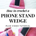 Free Crochet Pattern Phone Stand Wedge