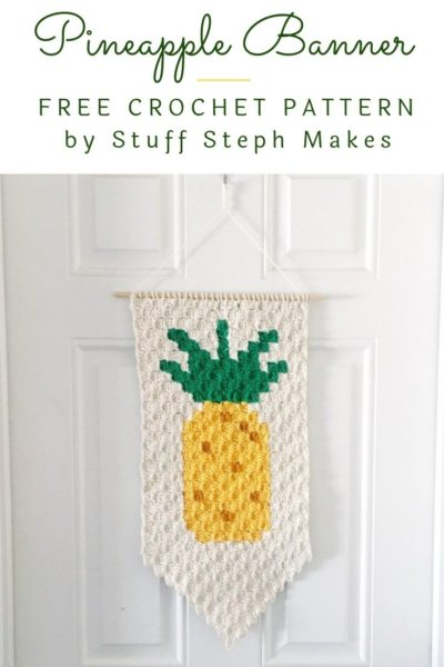 Free Crochet Pattern Pineapple Banner