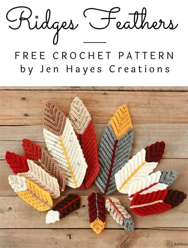 Free Crochet Pattern Ridged Feathers