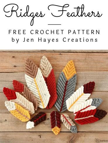 Free Crochet Pattern Ridged Feathers