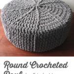 Free Crochet Pattern Round Pouf