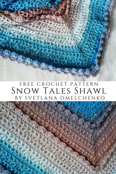 Free Crochet Pattern Snow Tales Shawl