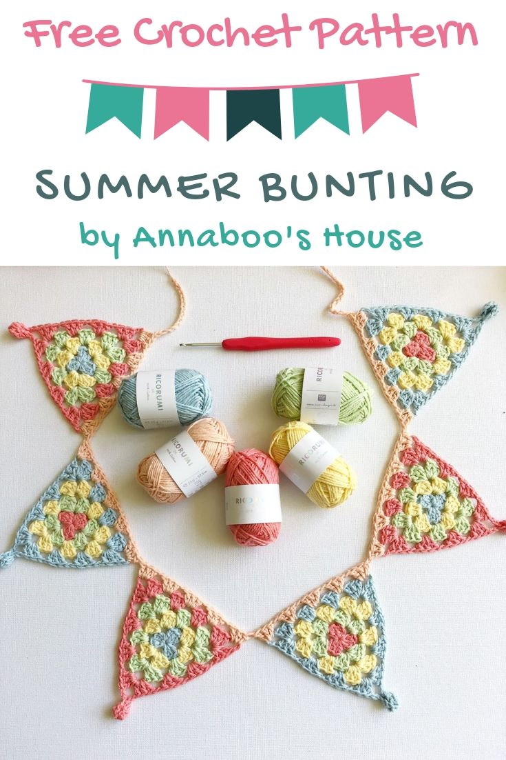 Free Crochet Pattern Summer Bunting