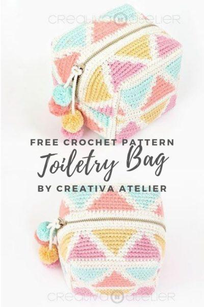 Free Crochet Pattern Toiletry Bag
