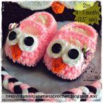 Free Crochet Pattern Baby Owl Booties