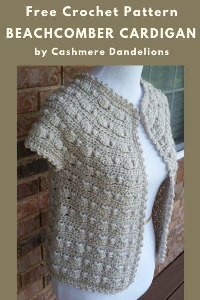 Free Crochet Pattern Beachcomber Cardigan