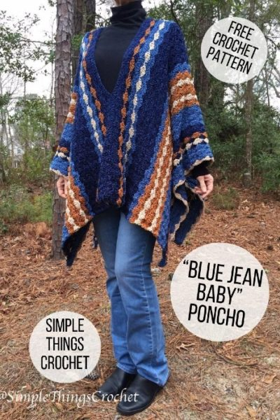 Free Crochet Pattern Blue Jeans Baby Poncho