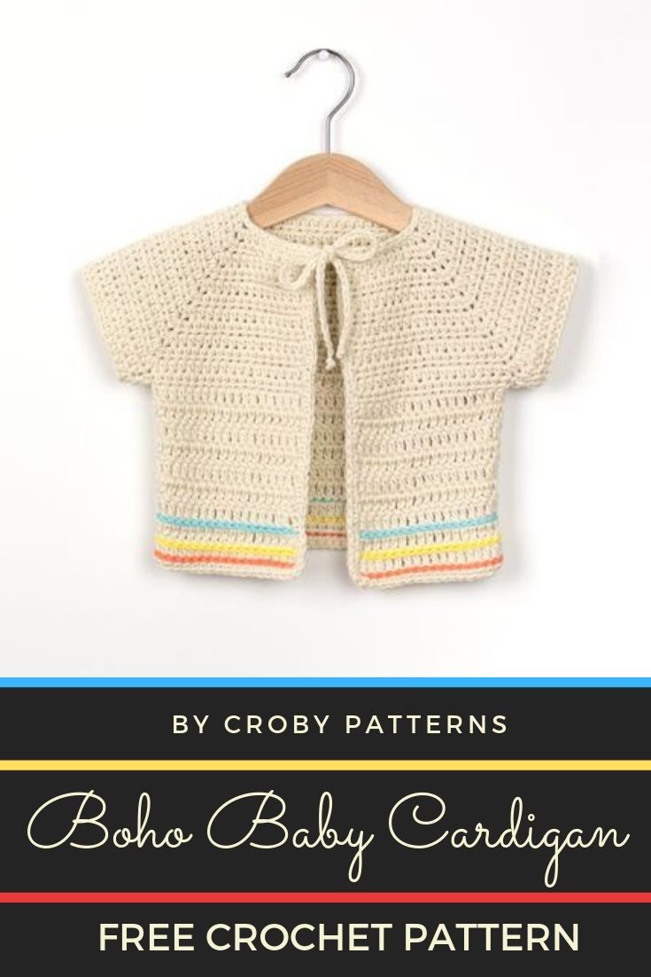 Free Crochet Pattern Boho Baby Cardigan