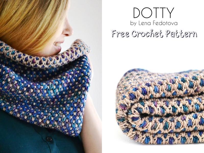 Free Crochet Pattern Dotty Cowl