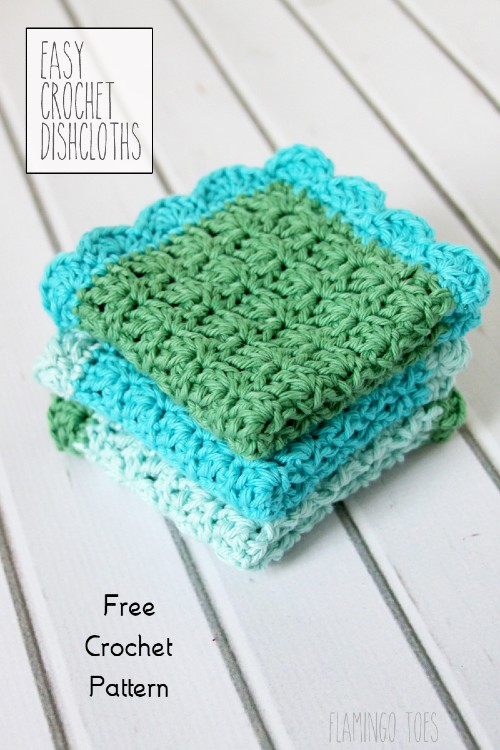 Free Crochet Pattern Easy Dish Cloths