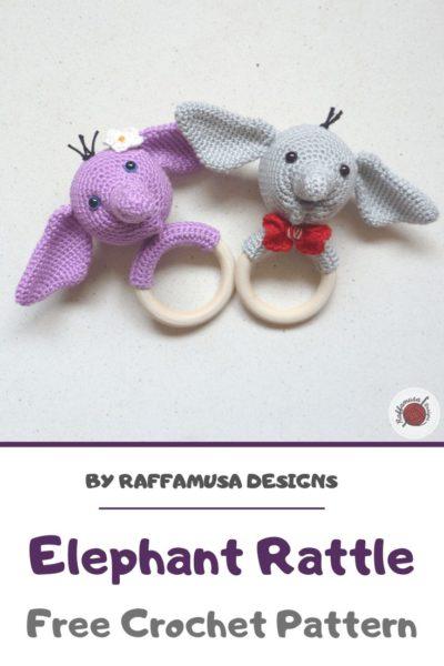 Free Crochet Pattern Elephant Rattle
