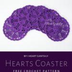 Free Crochet Pattern Hearts Coaster