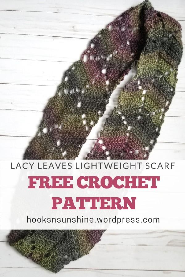 Free Crochet Pattern Lacy Leaves Scarf