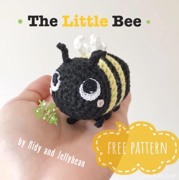 Free Crochet Bee Pattern - Grace and Yarn | 593x589