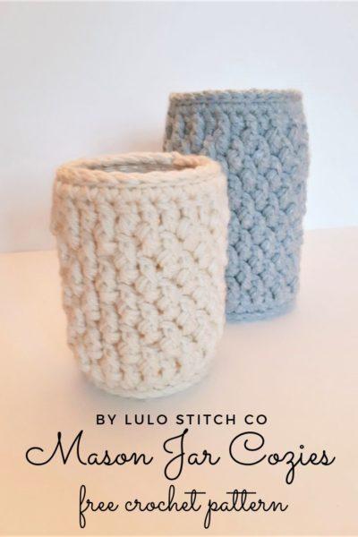 Free Crochet Pattern Mason Jar Cozies
