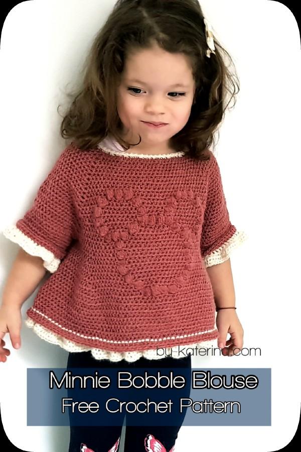 Free Crochet Pattern Minnie Bobble Blouse