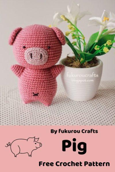 Free Crochet Pattern Pig