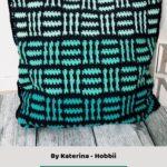 Free Crochet Pattern Plaid Mosaic Pillow