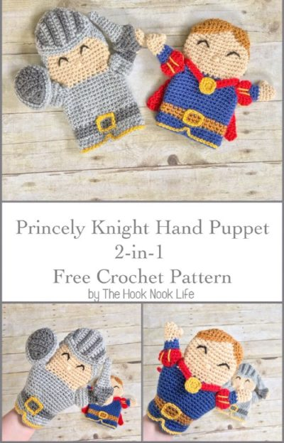 Free Crochet Pattern Princely Knight Hand Puppet