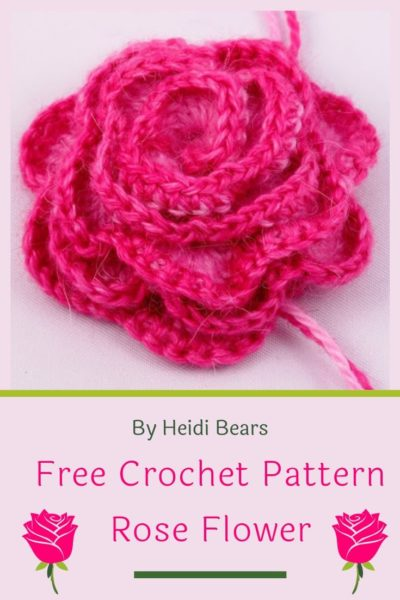 Free Crochet Pattern Rose Flower