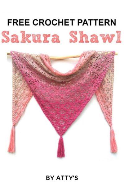 Free Crochet Pattern Sakura Shawl