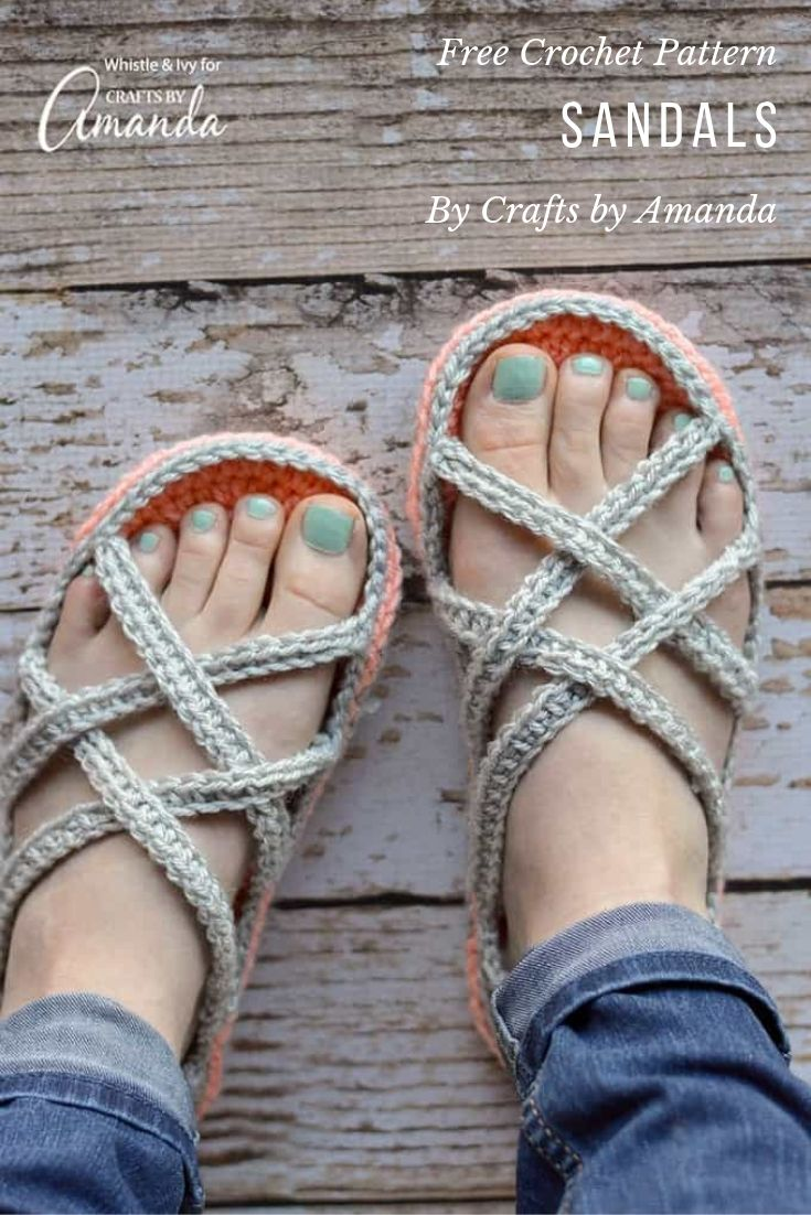 Free Crochet Pattern Sandals