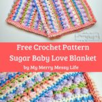 Free Crochet Pattern Sugar Love Baby Blanket