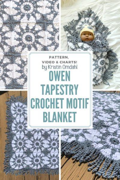 Free Crochet Pattern Tapestry Motif Blanket