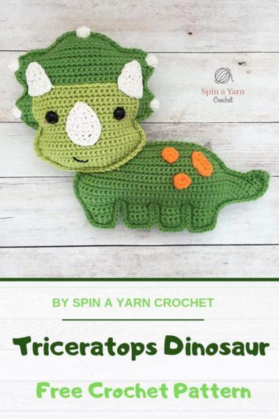 Free Crochet Pattern Triceratops Dinosaur