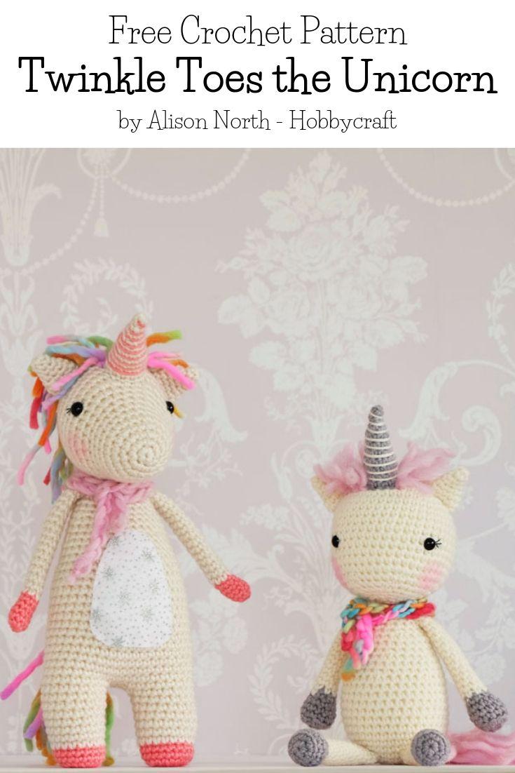 Free Crochet Pattern Twinkle Toes the Unicorn