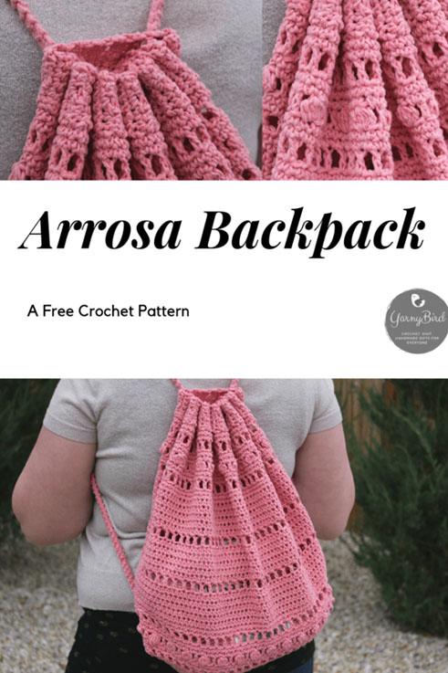 Free crochet Pattern Arrosa Backpack