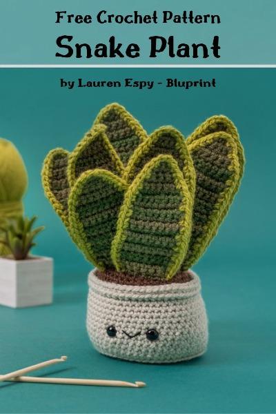 Plant Free crochet pattern snake plant
